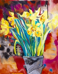 Daffodils - £250 - acrylic ink on paper
