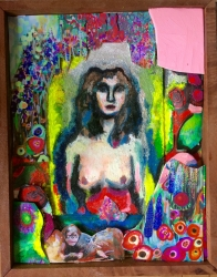 Open to possibility - £600 - 3D collage in wooden frame