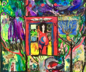 Scenes from a life - £900 - collage and mixed media on paper
