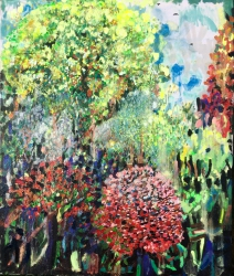 'Changing leaves' - £1500 - Oil and pigment on canvas